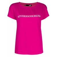 Love Moschino Camiseta Com Logo - Rosa