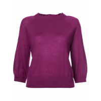 Co Ruffle-Trim Fitted Sweater - Rosa