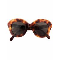 Celine Eyewear Óculos De Sol Com Armação Arredondada - Marrom