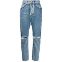 Balmain Calça Jeans Cintura Alta - Azul
