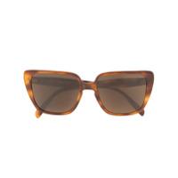 Celine Eyewear Óculos De Sol Gatinho - Marrom