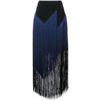 Stella Mccartney Saia Midi Com Franjas - Azul