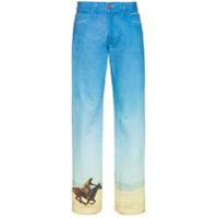 Calvin Klein Jeans Est. 1978 Calça Jeans Reta - Azul