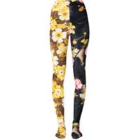 Richard Quinn Calça Legging Com Estampa Floral - Preto
