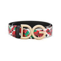 Dolce & Gabbana Cinto Com Logo E Fivela - Vermelho