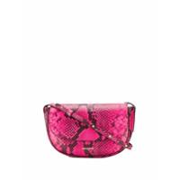 Frenzlauer Mini Swing Snakeskin Effect Bag - Rosa