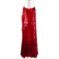 Atu Body Couture Vestido De Festa Com Aplicações - Vermelho
