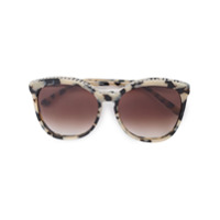 Stella Mccartney Eyewear Óculos De Sol Com Acabamento Em Corrente - Marrom