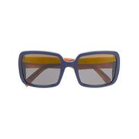 Marni Eyewear Óculos De Sol Oversized - Azul