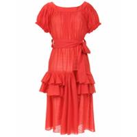 Clube Bossa Vestido 'florenz' Com Babados - Vermelho