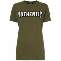 Neil Barrett Camiseta Com Estampa De Slogan - Verde