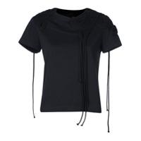 Vera Wang Corded Embroidery T-Shirt - Preto