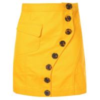 Acler Saia Jeans Com Botões - Amarelo