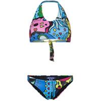Ellie Rassia Miami Halterneck Bikini - Azul