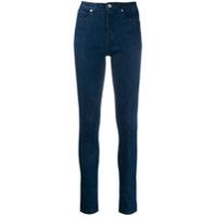 Ps Paul Smith Calça Jeans Skinny Cintura Alta - Azul