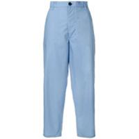 Marni Calça Cropped Cintura Alta - Azul