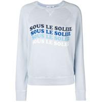 Frame Blusa De Moletom Com Estampa - Azul