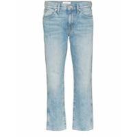 Slvrlake Calça Jeans Reta Cropped - Azul