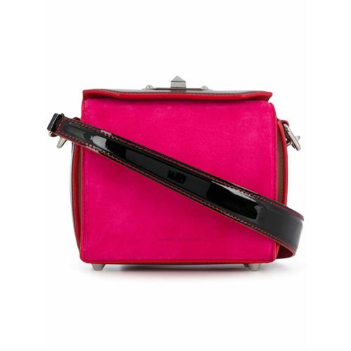 Imagem de Alexander McQueen Bolsa 'Box' de camurça - Rosa