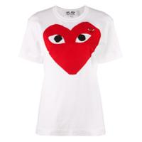Comme Des Garçons Play Camiseta Com Logo - Branco