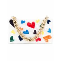Edie Parker Bolsa Clutch 'jean Hearts' - Branco