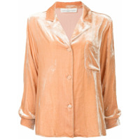 Golden Goose Camisa De Seda E Veludo Mangas Longas - Rosa