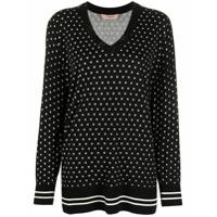 Twinset Suéter Com Estampa De Estrela - Preto