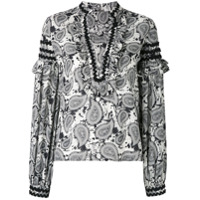 Dodo Bar Or Blusa Estampada De Seda - Branco