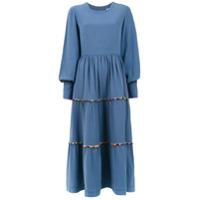 Olympiah Vestido 'inca' Com Pompom - Azul