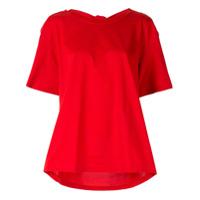 Le Ciel Bleu Camiseta Com Pregas Posteriores - Vermelho
