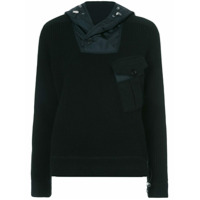 Ralph Lauren Collection Moletom Canelado De Cashmere Com Capuz - Preto