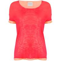 Fine Edge Camiseta Com Sobreposição - Vermelho