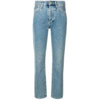 Goldsign Calça Jeans Reta Cintura Média - Azul