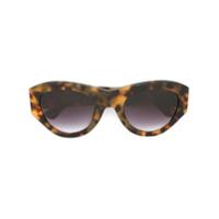 Linda Farrow Gallery Óculos De Sol Com Armação Redonda - Marrom