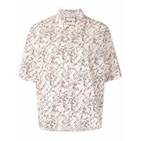 Plan C Camisa Com Estampa De Folhas - Rosa