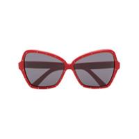 Celine Eyewear Óculos De Sol Butterfly - Vermelho