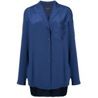 Rag & Bone Camisa 'alyse' De Seda - Azul