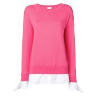 Moncler Suéter Com Sobreposição - Rosa