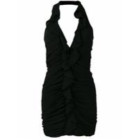Saint Laurent Vestido Mini Com Decote Profundo - Preto