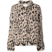 Laneus Leopard Short Jacket - Neutro