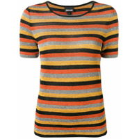 Just Cavalli Camiseta Listrada De Tricô - Laranja