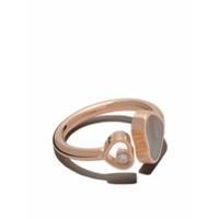 Chopard Anel 'happy Hearts' De Ouro 18K Com Diamante - Rose Gold