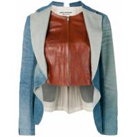 Junya Watanabe Blazer Com Camada Contrastante - Azul