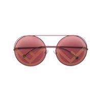 Fendi Eyewear Óculos De Sol 'runaway' - Rosa