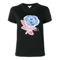 Kenzo Slim-Fit Flower T-Shirt - Preto