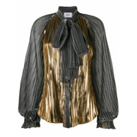 Atu Body Couture Blusa Com Laço E Pregas - Prateado
