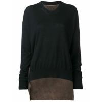 Uma Wang Suéter Color Block - Preto
