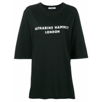 Katharine Hamnett London Camiseta Oversized Com Estampa De Logo - Preto