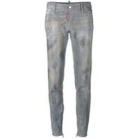Dsquared2 Calça Jeans Skinny Com Tachas - Cinza