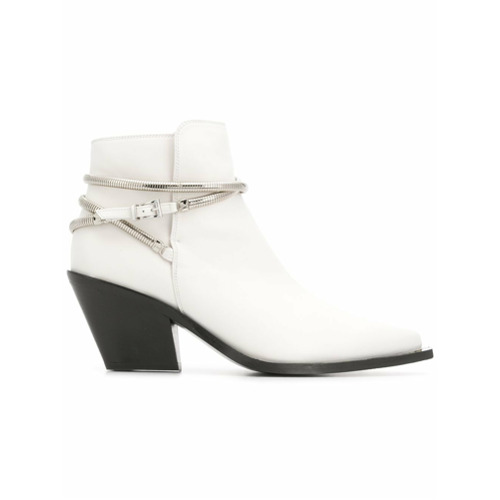 Imagem de Barbara Bui pointed toe ankle boots - Branco